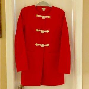 J crew factory red coat sz 4 EUC